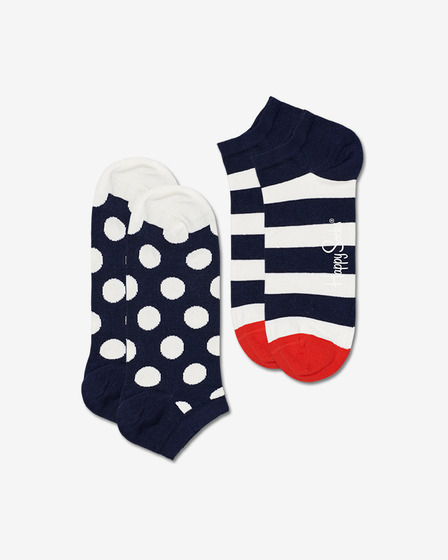 Happy Socks Big Dot Stripe Low Zokni, 2 pár