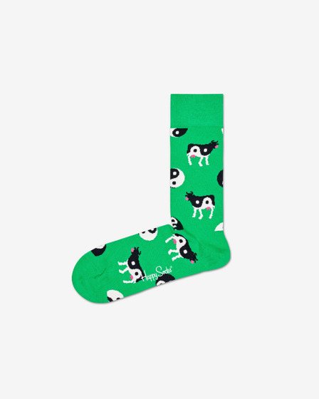 Happy Socks Ying Yang Cow Zokni